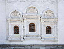 wall with windows of ancient church Royalty Free Stock Image