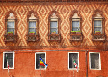 Wall Windows Flags Decorations Venice Royalty Free Stock Image
