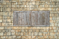 Wall with windows Royalty Free Stock Image