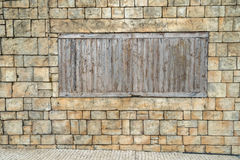 Wall with windows Royalty Free Stock Photos