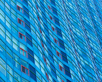 Wall of Windows in Highrise Building Stock Photography