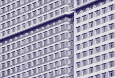 Wall with windows. Royalty Free Stock Image