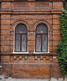 Wall with windows of  old building Royalty Free Stock Image