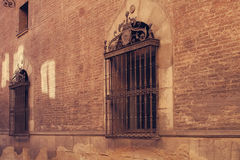 A wall with windows. Royalty Free Stock Photo