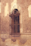 A wall with windows. Royalty Free Stock Images