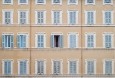 Wall with windows Stock Photography