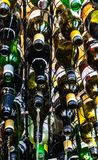 Wall of wine stock photography