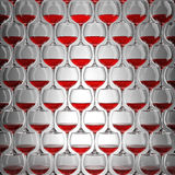 Wall of wineglasses Royalty Free Stock Image