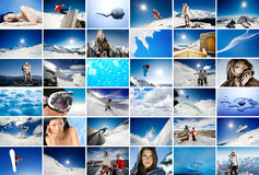 Wall of winter Stock Images