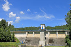 Wall Wipper dam in the Harz Mountains, Germany Stock Photography