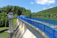 Wall Wipper dam in the Harz Mountains, Germany Stock Images