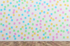 Wall With Colored Sticky Notes Royalty Free Stock Photos