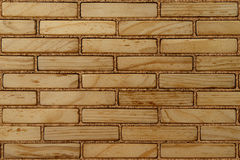 Wall of wood bricks Royalty Free Stock Images