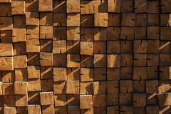 Wall of wooden bars royalty free stock images