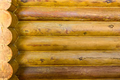 Wall wooden beams as background Royalty Free Stock Images