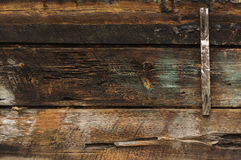 Wall of the wooden boards Royalty Free Stock Photography
