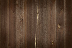 Wall of wooden boards with vignette. Stock Image