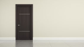 Wall with wooden door Royalty Free Stock Images