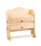 A wall wooden drawers Royalty Free Stock Images