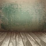 Wall with wooden floor Royalty Free Stock Photography