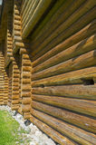 Wall of a wooden fortress. Royalty Free Stock Photo