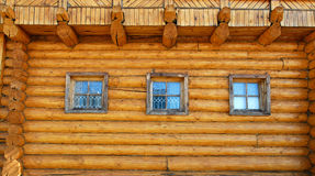 Wall of wooden house Stock Image
