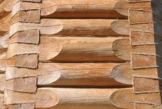 Wall of the wooden house. Wall of a wooden log house Royalty Free Stock Photography
