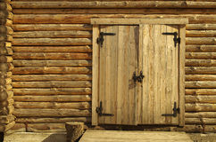 Wall of wooden house Royalty Free Stock Image