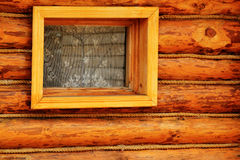 Wall wooden log Stock Photos