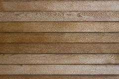 Wall of wooden planks. Wooden texture of planks arranged horizontally Stock Image