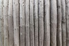 Wall from the wooden poles Royalty Free Stock Photography