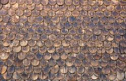 Wall of wooden shingles Stock Photos