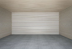 Wall of wooden slats Stock Image