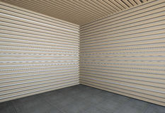 Wall of wooden slats Stock Photo
