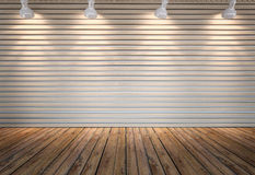 Wall of wooden slats Royalty Free Stock Photos