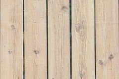 Wall of wooden slats, a fence of old boards. Background with old wood texture. stock photography