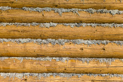 Wall of the wooden village house Royalty Free Stock Image