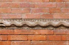 Wall and wooden work in Hanuman Dhoka Durbar Royalty Free Stock Images