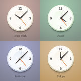 Wall world watches Royalty Free Stock Images