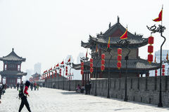 On the wall of Xian, China Stock Photos