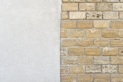 The wall of yellow limestone blocks Royalty Free Stock Images