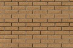 Wall of  yellow raised thin bricks Royalty Free Stock Photo