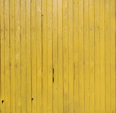 Wall of yellow wood boards Royalty Free Stock Photo