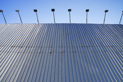 Wall from zinc sheets. High wall from zinc sheets Stock Photography