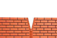 Wall with zipper. Brick wall with zipper isolated Stock Photo