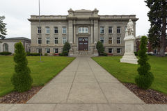 Walla Walla华盛顿县法院大楼前排中间02 免版税库存图片