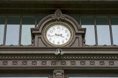 Walla Walla华盛顿县法院大楼时钟01 免版税图库摄影