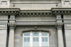 Walla Walla华盛顿县法院大楼题字 免版税图库摄影