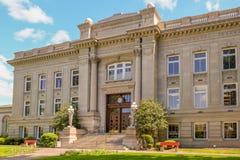 The Walla Walla County Courthouse in Washington. Entrance to the historic Walla Walla County Courthouse in Walla Walla Washington Stock Images