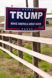 WALLA WALLA, WA/UNITED STATES – MARCH, 23: A local resident has a campaign sign showing support for Donald Trump March, 23, 2011. Trump Make America Great Royalty Free Stock Image